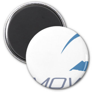 Skiing 2 Inch Round Magnet