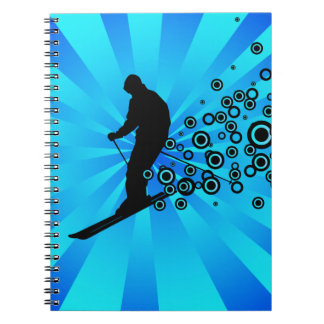 Skiing Abstract Notebook