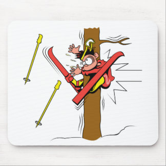 Skiing Accident Mouse Pad