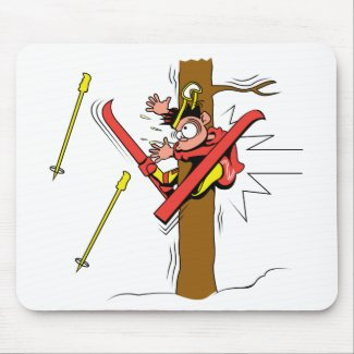Skiing Accident Mousepad