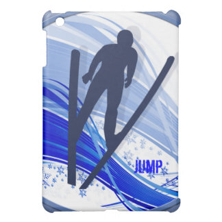 Skiing and Snowflakes Cover For The iPad Mini