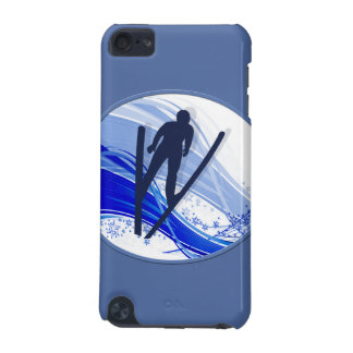 Skiing and Snowflakes iPod Touch (5th Generation) Case