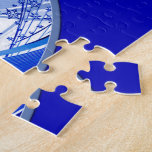 Skiing and Snowflakes Jigsaw Puzzle