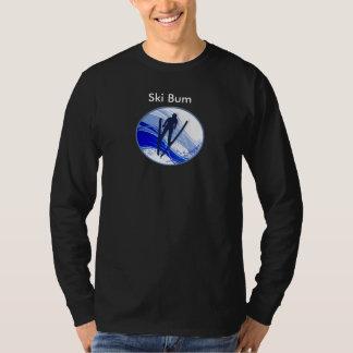 Skiing and Snowflakes T-Shirt