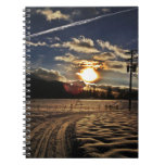 skiing at sunset spiral note books