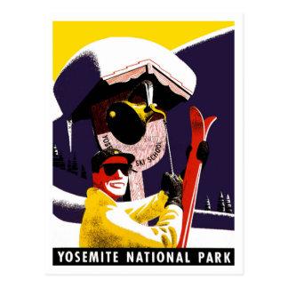 Skiing at Yosemite Postcard