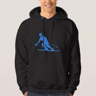 Skiing - Baby Blue Hoodie