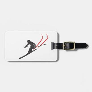 skiing bag tag