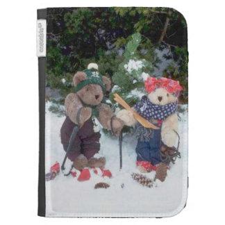 Skiing bears kindle 3 covers