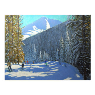 Skiing Beauregard La Clusaz 2012 Postcard