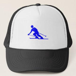 Skiing - Blue Trucker Hat