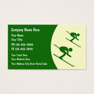 Skiing Business Cards