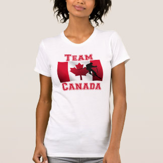 Skiing Canadian Flag Team Canada Tank Top