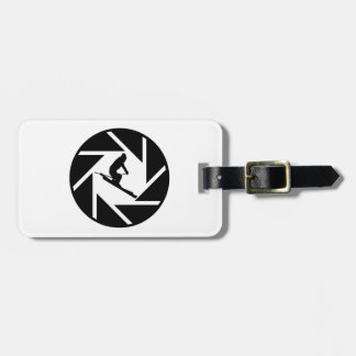 SKIING CANDID VISION LUGGAGE TAG