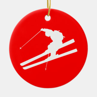 skiing christmas ornaments