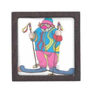 Skiing Clown Keepsake Box