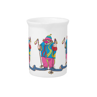 Skiing Clown Drink Pitcher