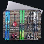 """Skiing Computer Sleeve<br><div class=""""desc"""">Ski Theme Laptop Sleeve. If You enjoy Winter Sports,  this Laptop Sleeve is for You. Please feel free to customize this product,  as You wish.</div>"""