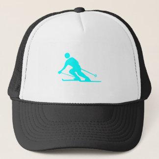 Skiing - Cyan Trucker Hat