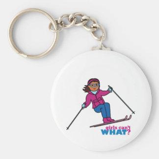 Skiing - Dark Keychain
