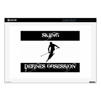 skiing design decal for laptop