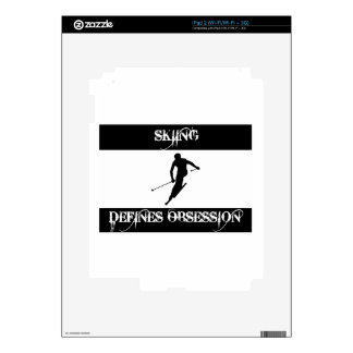 skiing design skins for the iPad 2