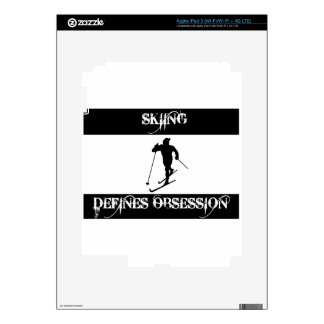 skiing design iPad 3 decal
