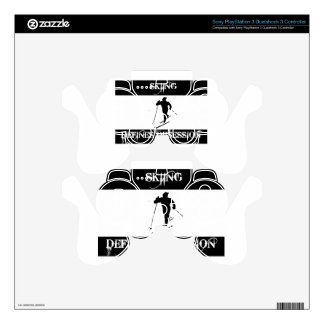 skiing design skin for PS3 controller