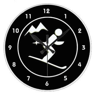 Skiing Design Wall Clock