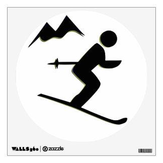 Skiing Design Wall Decal