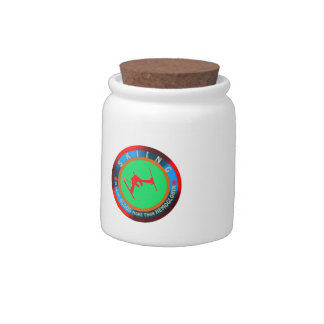 Skiing designs candy jars