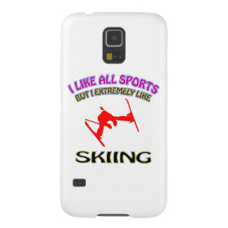 Skiing designs case for galaxy s5