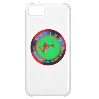 Skiing designs iPhone 5C covers