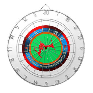 Skiing designs dart board