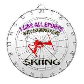 Skiing designs dartboard