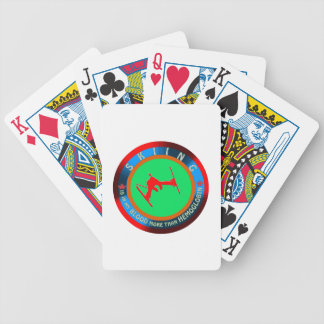Skiing designs deck of cards