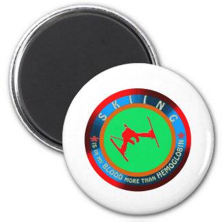 Skiing designs magnet