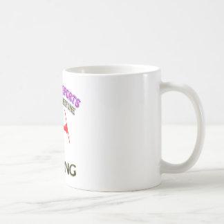 Skiing designs mug
