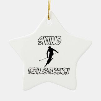 skiing designs christmas ornaments