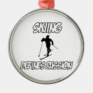 skiing designs christmas ornament