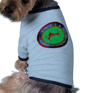 Skiing designs pet tee shirt