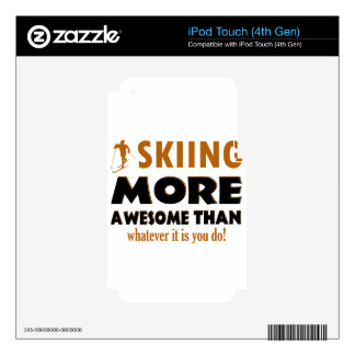Skiing Designs iPod Touch 4G Skin