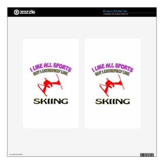 Skiing designs kindle fire decal