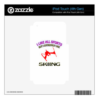 Skiing designs iPod touch 4G decal