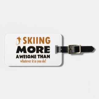 Skiing Designs Tag For Luggage