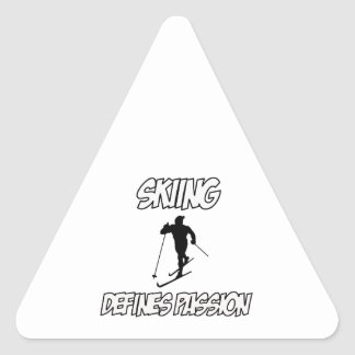 skiing designs triangle sticker