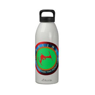 Skiing designs water bottle
