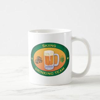Skiing Drinking Team Classic White Coffee Mug
