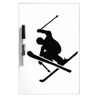 Skiing Dry Erase Board
