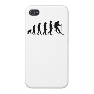 Skiing Evolution Case For iPhone 4